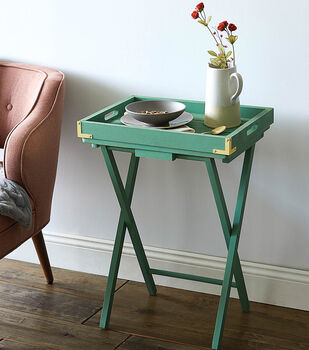 How To Make A Tray Table With Campaign Corners
