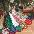 How To Make A 48\u0022 Mixed Colors Quilted Tree Skirt