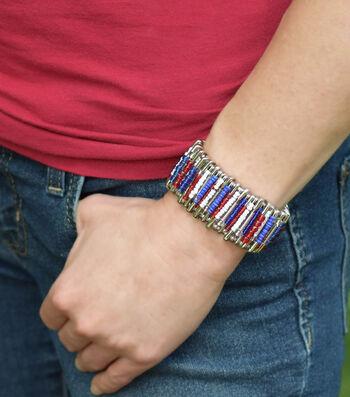 Make An Americana Safety Pin Cuff