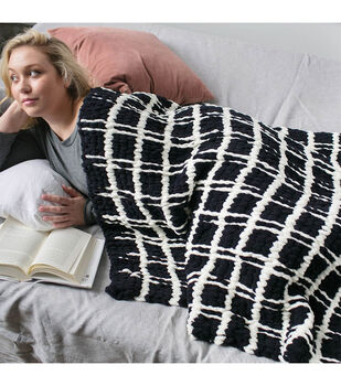 How to Make a Bernat Alize EZ Mad for Plaid Blanket