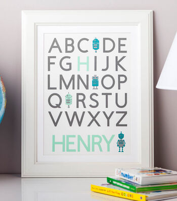 How To Make A Robot Alphabet Nursery Art