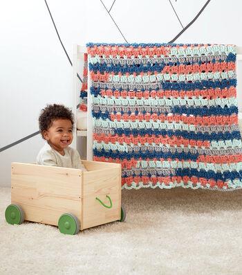 How To Make a Bernat Baby Bundle Little Blocks Crochet Baby Blanket