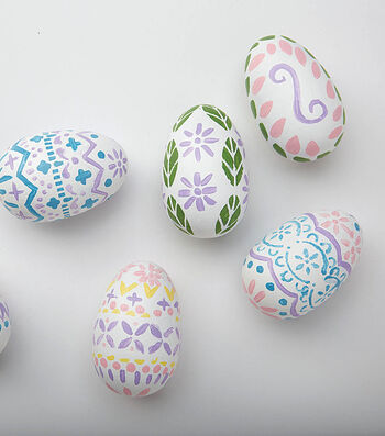 Stencil Painted Eggs