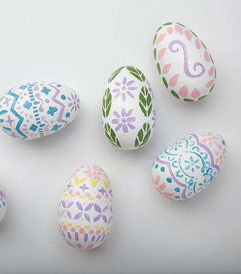Stencil Painted Eggs
