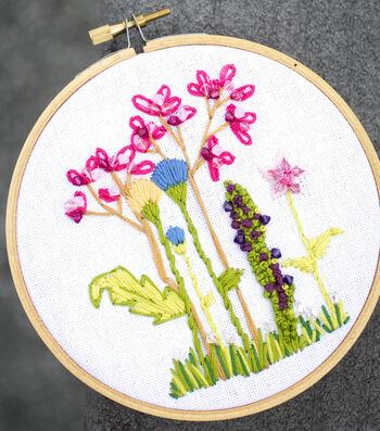 How To Make An Embellished Wildflower Hoop