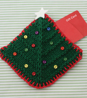 How To Make a Lily Sugar' N Cream Christmas Tree Gift Card Cozy