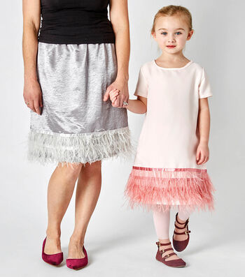 How To Make a Mommy & Me Feather Trim Dresses