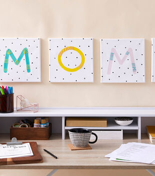 How To Make MOM Embroidered Canvases
