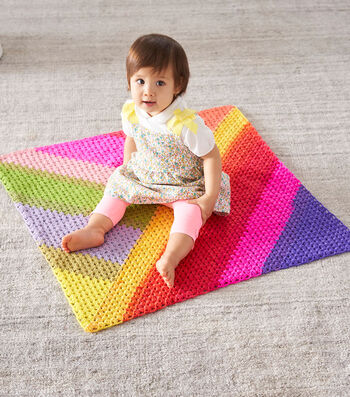 How To Make a Lion Brand Cupcake Granny Triangles Afghan