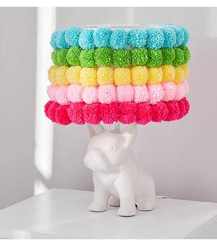 How to Make a Pompom Rainbow Lampshade