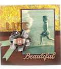 Vintage Distressed Background and Flower