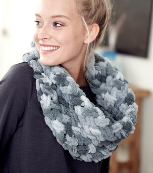 How To Make A Bernat Alize Blanket EZ Criss-Cross Cowl