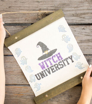 How To Make A Witch University Halloween Banner