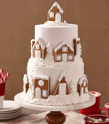 How to Make a Gingerbread Village Cake