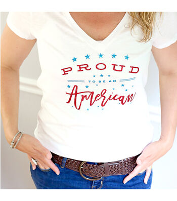 How To Make A Proud To Be An American Tee