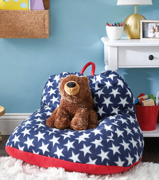 How To Make a Fleece Star Bean Bag Chair with Handle
