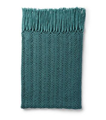 How To Make a Bernat Blanket Herringbone Weave Knit Blanket
