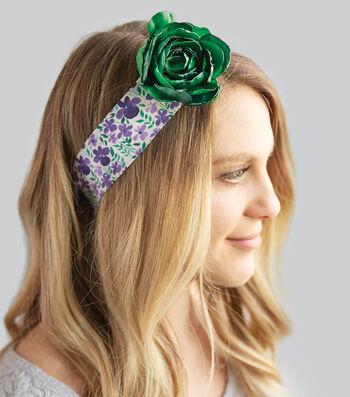 How To Make A Ribbon Flower Headband