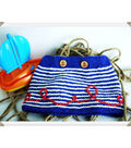 Red, White and Loop-d-loop Nautical Knit Baby Skirt