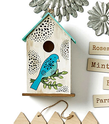 How To Make A Lazar Cut Painted Birdhouse and Rustic Wood Planter