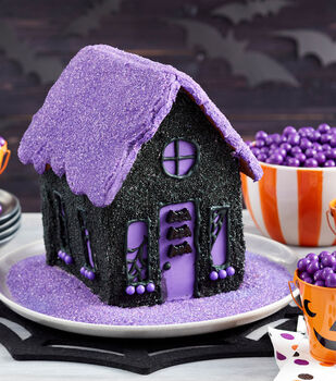 How To Make A Halloween Sparkle Cookie House