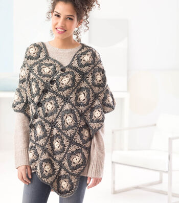 How To Crochet A Buttoned Poncho