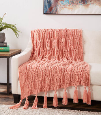 How To Make a Caron One Pound Calico Collection Crochet Cables Blanket