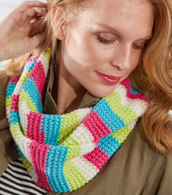 How To Make a Striped Crochet Cowl