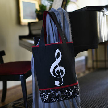 Learn to sew Treble Clef Tote