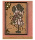 rose corset Card