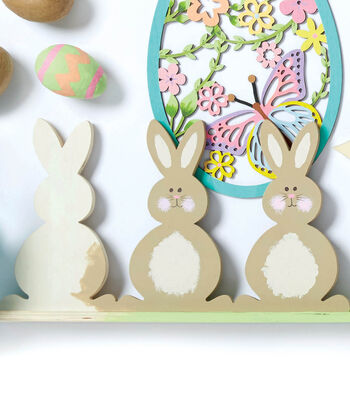 How To Make 3 Painted Wood Bunnies