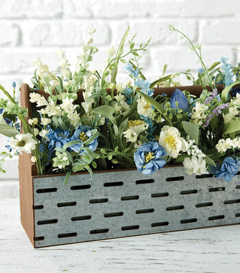 How To Make A Galvanized And Wood Container Arrangement