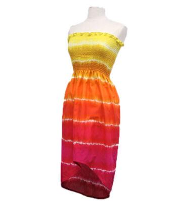Tie-Dye Sundress with High Low Hemline