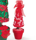 Candy Cane Button Christmas Tree