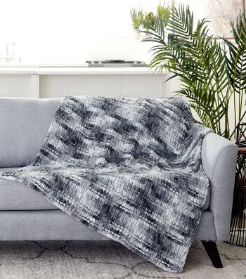 How To Make A Bernat Alize Blanket EZ Scaped Garter Ridge Blanket