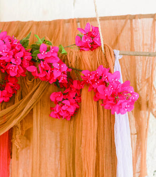 How To Make A Dyed Cheesecloth Wedding Backdrop