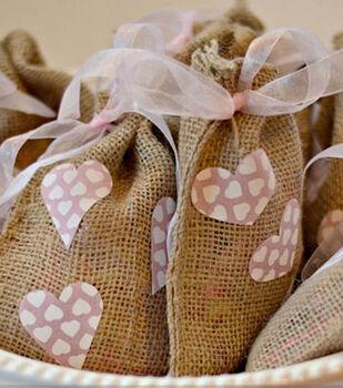 Idea Market Create and Babble's Valentine's Burlap Treat Bags