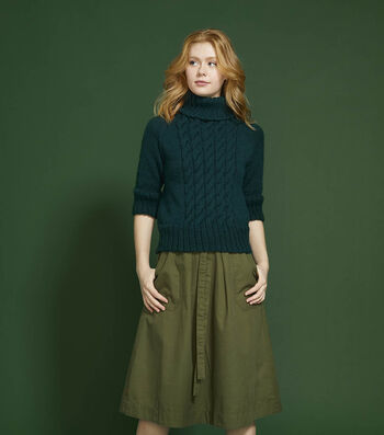 How To Make a Lion Brand Pound of Love Flagford Turtleneck