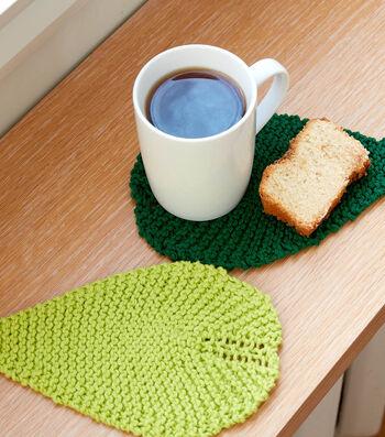 How To Make A Lily Sugar'N Cream Be-Leaf It Knit Mug Rug