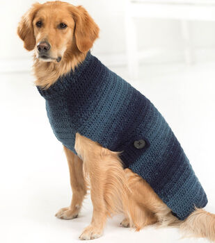 How To Make a Lion Brand Scarfie Asta Dog Sweater