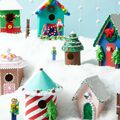 How To Make A Christmas Village With Wood Birdhouses