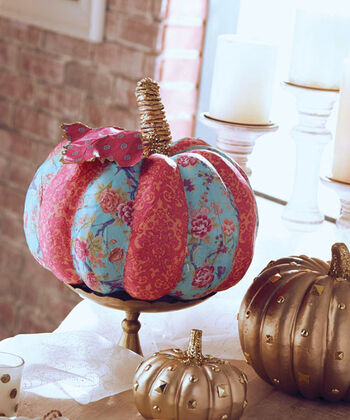 Buttercream Olivia Collection Tissue Covered Pumpkin