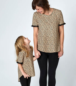 How To Make Mommy and Me Matching Animal Print Tunics