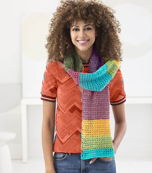 How To Make a Liod Brand Wool Ease Cakes West Plaza Scarf
