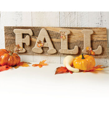 Jute Wrapped Fall Letters