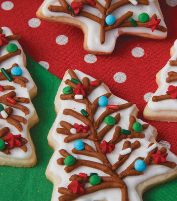 How To Make Trimmed Christmas Tree Cookies