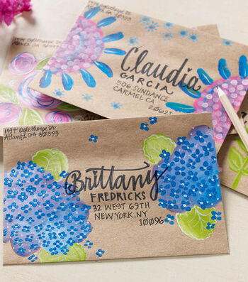 How To Make Hand Painted Envelopes