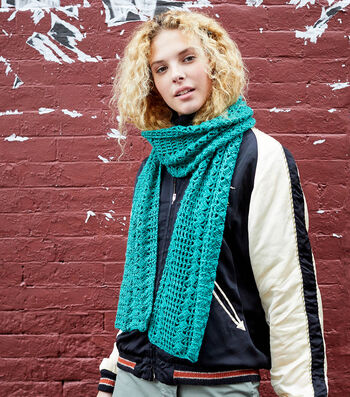 How To Make A Lion Brand Touch of Merino Asheville Scarf