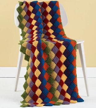 How To Make a Vanna's Choice Tunisian Crochet Entrelac Throw