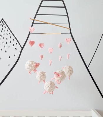 How To Make a Bernat Baby Velvet Crochet Sheep Mobile